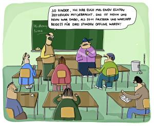 Cartoon von Piero Masztalerz