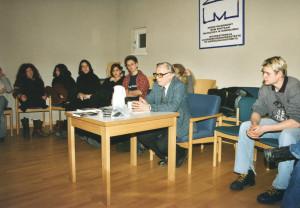 2002 mit Schülern der WBG in Oswiecim