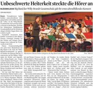 Kölner Stadtanzeiger vom 29.01.2016, Text und Foto: Anja Musick